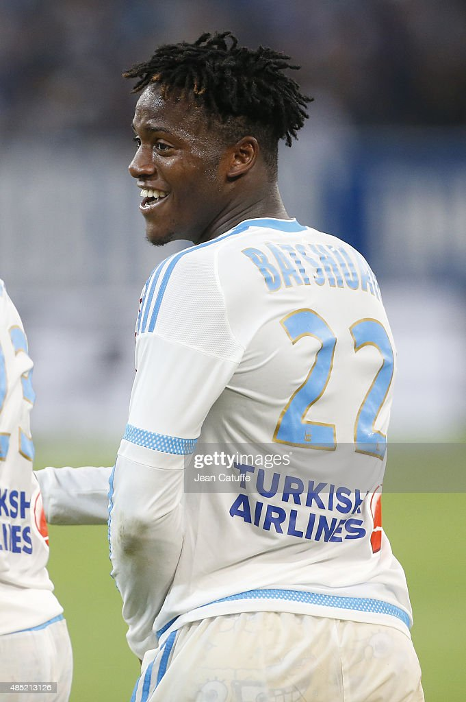 <a gi-track='captionPersonalityLinkClicked' href=/galleries/search?phrase=Michy+Batshuayi&family=editorial&specificpeople=8599446 ng-click='$event.stopPropagation()'>Michy Batshuayi</a> of OM celebrates his goal during the French Ligue 1 match between Olympique de Marseille (OM) and Troyes ESTAC at New Stade Velodrome on August 23, 2015 in Marseille, France.