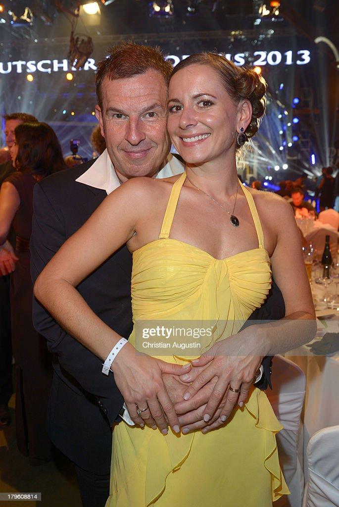 Michy Reincke and wife Yvonne attend 'Deutscher Radiopreis' at Schuppen 52 on September 5, 2013 in Hamburg, Germany.