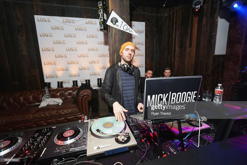 DJ <a gi-track='captionPersonalityLinkClicked' href=/galleries/search?phrase=Mick+Boogie&family=editorial&specificpeople=4640369 ng-click='$event.stopPropagation()'>Mick Boogie</a> performs at 1 OAK New Orleans Presented By LOGIC Electronic Cigarettes at Jax Brewery on February 2, 2013 in New Orleans, Louisiana.