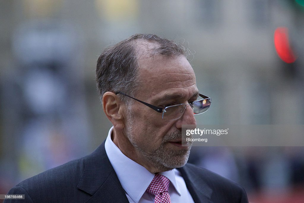 <a gi-track='captionPersonalityLinkClicked' href=/galleries/search?phrase=Mick+Davis&family=editorial&specificpeople=240575 ng-click='$event.stopPropagation()'>Mick Davis</a>, chief executive officer of Xstrata Plc, leaves following a shareholder's meeting in Zug, Switzerland, on Tuesday, Nov. 20, 2012. Glencore International Plc's $31 billion takeover of Xstrata Plc was approved by investors, leaving clearance by regulators in Europe and China as the remaining hurdles for this year's biggest deal. Photographer: Gianluca Colla/Bloomberg via Getty Images