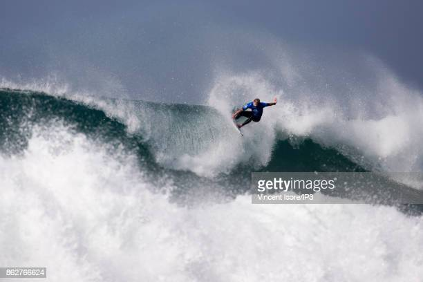 Mick Fanning from Australia performs during the Quicksilver Pro France surf competition on October 12 2017 in Hossegor France he French stage of the...