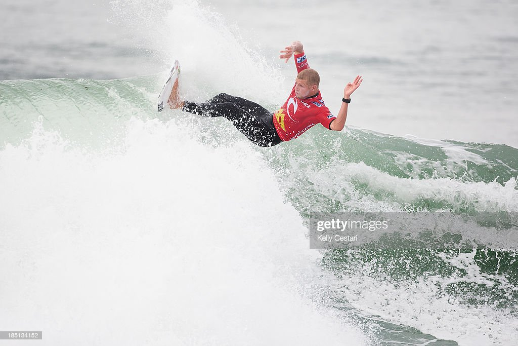 Mick Fanning of Australia placed equal 5th at the RipCurl Pro Portugal missing the chance to secure a third ASP World Title in the process on October 17, 2013 in Peniche, Portugal.