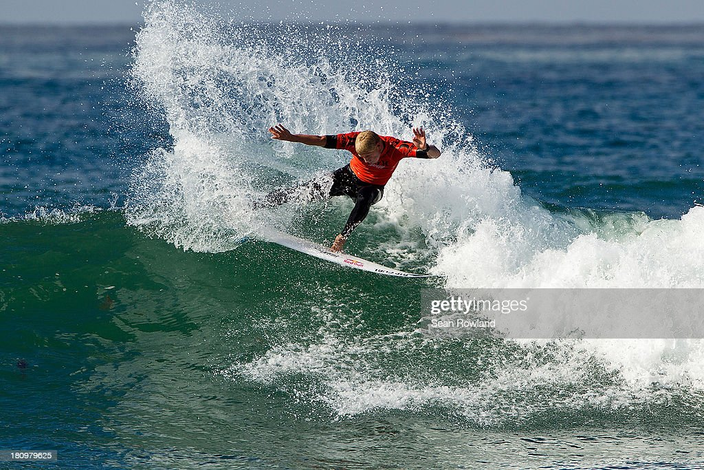 <a gi-track='captionPersonalityLinkClicked' href=/galleries/search?phrase=Mick+Fanning&family=editorial&specificpeople=553784 ng-click='$event.stopPropagation()'>Mick Fanning</a> of Australia surfs during round five at The Hurley Pro on September 18, 2013 in San Diego, California.
