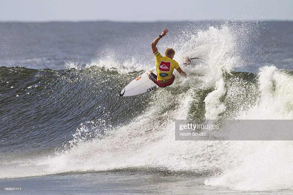 Mick Fanning of Australia surfs during round four of the Quiksilver Pro on March 11, 2013 in Gold Coast, Australia.