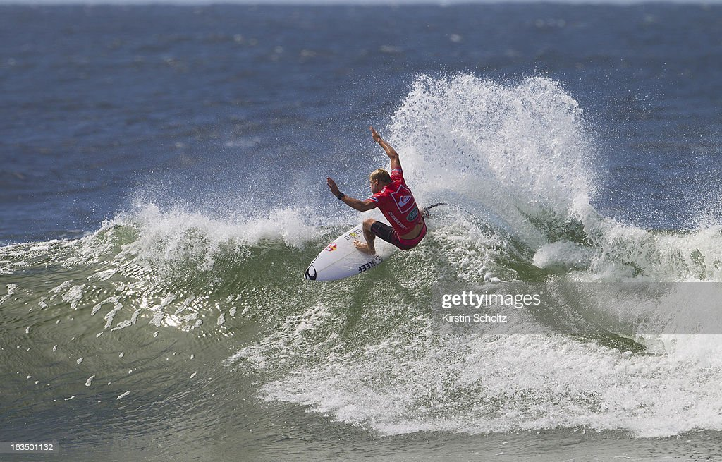 Mick Fanning of Australia surfs during round three of the Quiksilver Pro on March 11, 2013 in Gold Coast, Australia.