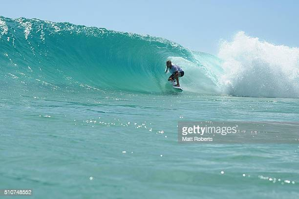 Mick Fanning surfs at Snapper Rocks ahead of this month's Gold Coast Quiksilver Pro on February 17 2016 on the Gold Coast Australia