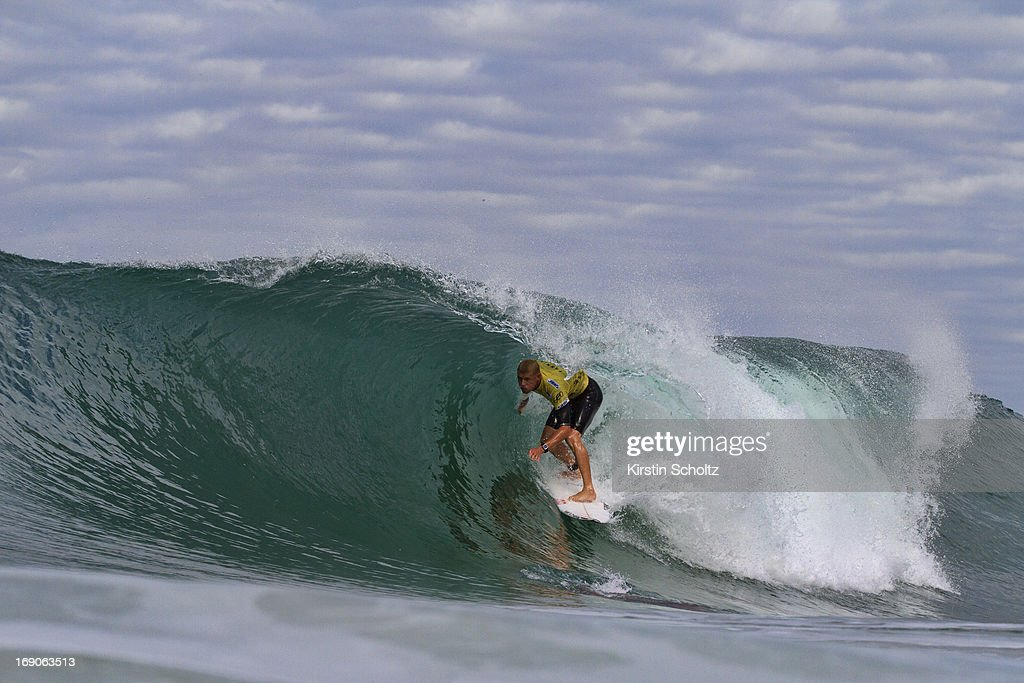 <a gi-track='captionPersonalityLinkClicked' href=/galleries/search?phrase=Mick+Fanning&family=editorial&specificpeople=553784 ng-click='$event.stopPropagation()'>Mick Fanning</a> surfs to an equal third place during the Billabong Rio Pro on May 19, 2013 in Rio de Janeiro, Brazil.