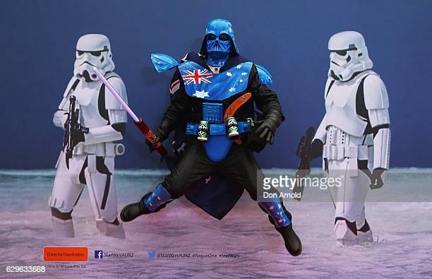 Mick Fett arrives ahead of the Rogue One A Star Wars Story Australian Premiere on December 14 2016 in Sydney Australia