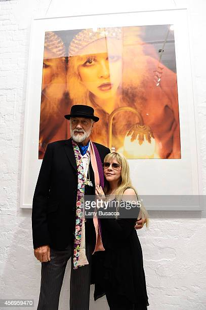 Mick Fleetwood and Stevie Nicks attend the debut of '24 Karat Gold' at the Morrison Hotel Gallery on October 9 2014 in New York City