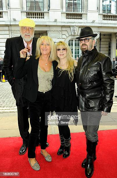 Mick Fleetwood Christine McVie Stevie Nicks and Dave Stewart attend the UK Premiere of 'Stevie Nicks In Your Dreams' at The Curzon Mayfair on...