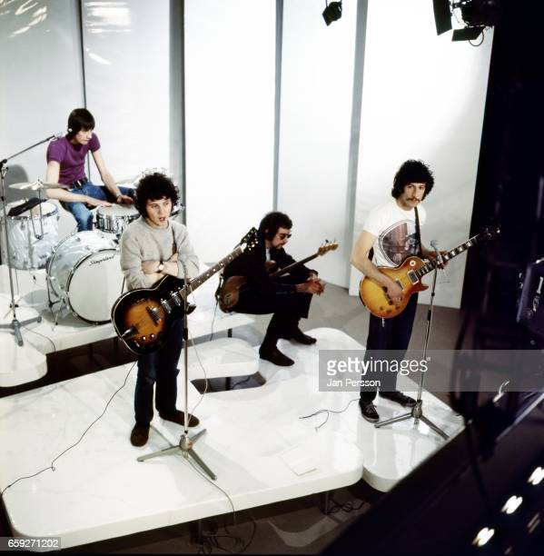 Mick Fleetwood Jeremy Spencer John McVie and Peter Green of Fleetwood Mac performing at TV Special Copenhagen Denmark May 1968