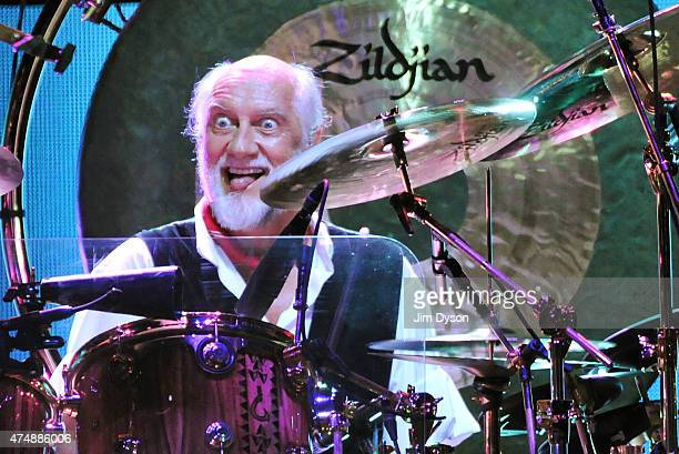Mick Fleetwood of Fleetwood Mac performs live on stage at The O2 Arena on May 27 2015 in London United Kingdom