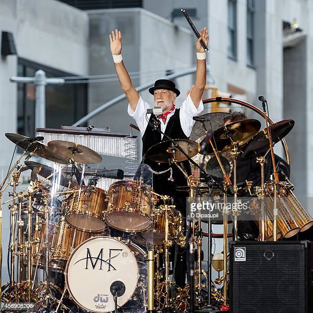 Mick Fleetwood of Fleetwood Mac performs onstage during NBC's 'Today' at Rockefeller Plaza on October 9 2014 in New York City