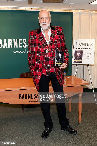 Mick Fleetwood promotes his book 'Play On Now Then and Fleetwood Mac The Autobiography' at Barnes Noble 5th Avenue on October 28 2014 in New York City