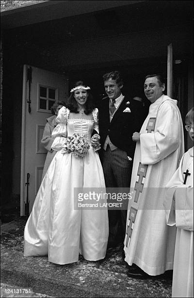 Mick Flick's wedding with Andrea de Portago at Gstaad Switzerland on January 20 1978 Andrea de Portago and Mick Flick