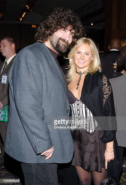 Mick Foley and Laura Bell Bundy during 8th Annual Muscular Dystrophy Association's Muscle Team 2005 Gala at Chelsea Piers in New York City New York...