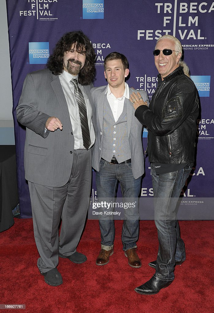 Mick Foley, Cody Blue Snider and <a gi-track='captionPersonalityLinkClicked' href=/galleries/search?phrase=Dee+Snider&family=editorial&specificpeople=239139 ng-click='$event.stopPropagation()'>Dee Snider</a> attend the 'Fool's Day' Shorts Program during the 2013 Tribeca Film Festival on April 18, 2013 in New York City.