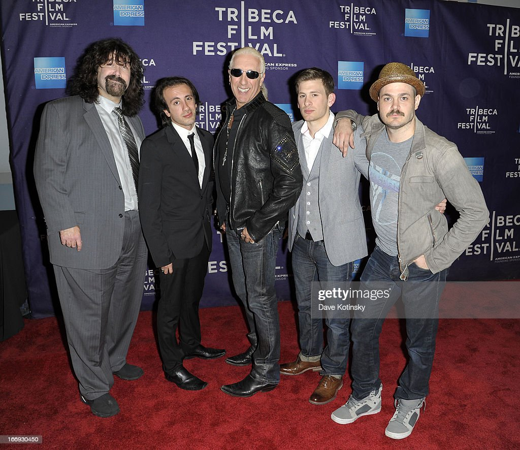 Mick Foley, Shane Snider, Dee Snider, Cody Blue Snider and Mitchell Jarvis attend the 'Fool's Day' Shorts Program during the 2013 Tribeca Film Festival on April 18, 2013 in New York City.