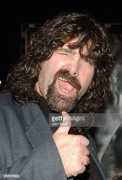 Mick Foley WWE Superstars during 'See No Evil' Premiere Arrivals in Los Angeles California United States