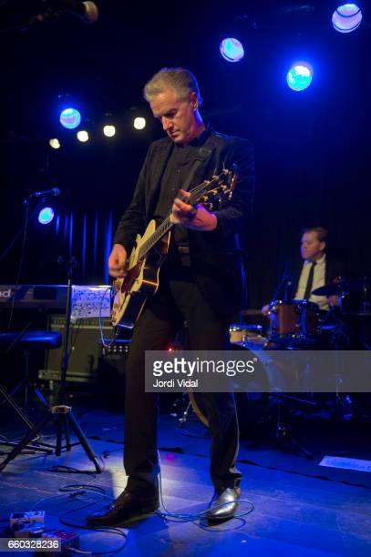 Mick Harvey and Toby Dammit perform on stage at Sala Apolo on March 29 2017 in Barcelona Spain