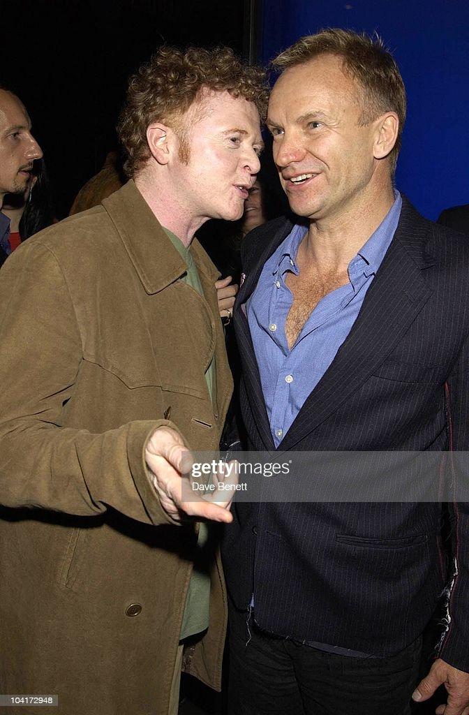 Mick Hucknall And Sting, Russell Crowe Oscar Nomination Cocktail & Dinner Party, New Giorgio Armani Shop, Bond Street & Supper & Hakkasan, London.