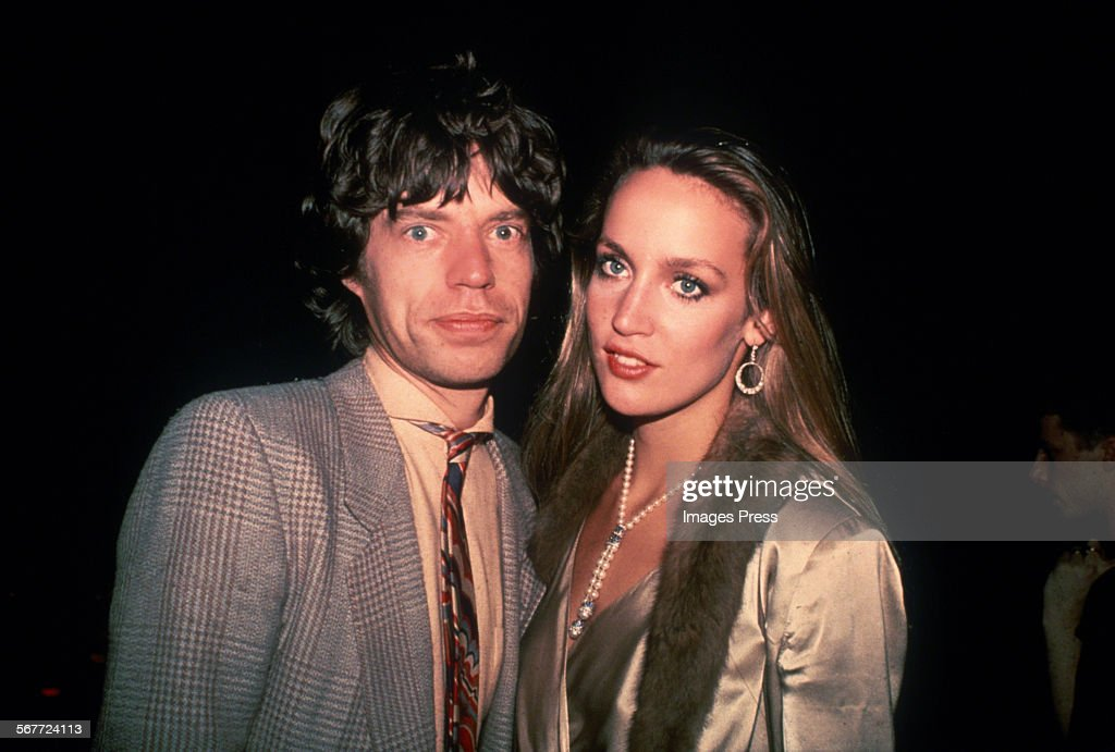 Mick Jagger and Jerry Hall circa 1979 in New York City