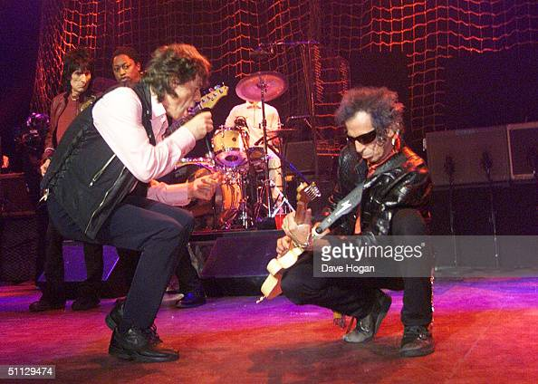Mick Jagger and Keith Richards from The Rolling Stones perform on stage at the Shepherds Bush Empire on June 8th 1999 in London