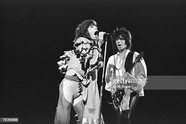 Mick Jagger and Keith Richards of the Rolling Stones 1970s