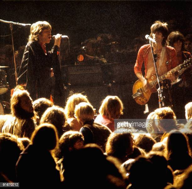 Mick Jagger and Keith Richards of the Rolling Stones at The Altamont Speedway on December 6 1969 in Livermore California