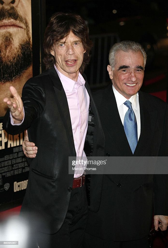 Mick Jagger and Martin Scorsese, director