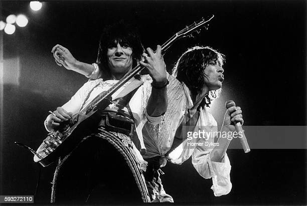 Mick Jagger and Ron Wood on Stage