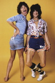 Mick Jagger and Ronnie Wood of the Rolling Stones are photographed at the Camera 5 studios in 1977 in New York City CREDIT MUST READ Ken Regan/Camera...