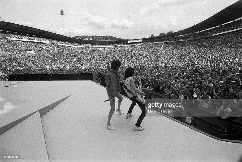 <a gi-track='captionPersonalityLinkClicked' href=/galleries/search?phrase=Mick+Jagger&family=editorial&specificpeople=201786 ng-click='$event.stopPropagation()'>Mick Jagger</a> and Ronnie Wood of the Rolling Stones in concert in Gothenburg, Sweden, 1982.