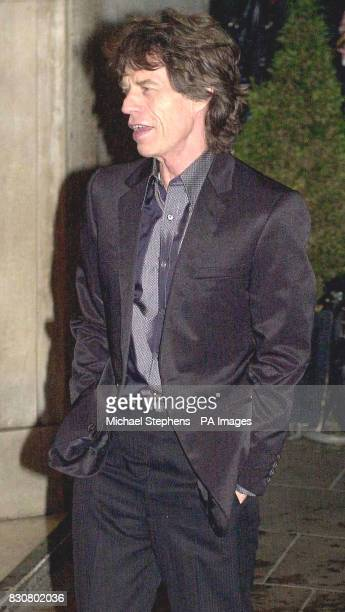 Mick Jagger arrives for the Evening Standard Film Awards 2002 at The Savoy in London The annual awards recognise the achievements in homegrown cinema...