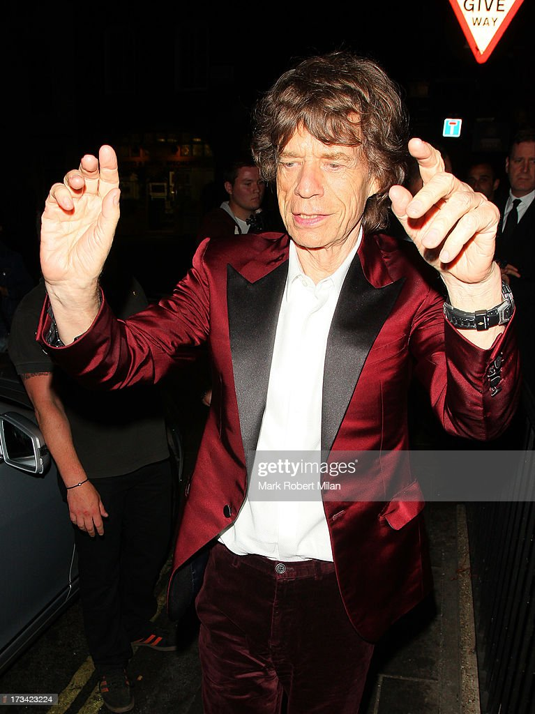 Mick Jagger at Loulou's club on July 13, 2013 in London, England.