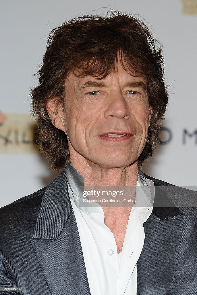 Mick Jagger at the photo call for 'Stones in Exile' during the 63rd Cannes International Film Festival.