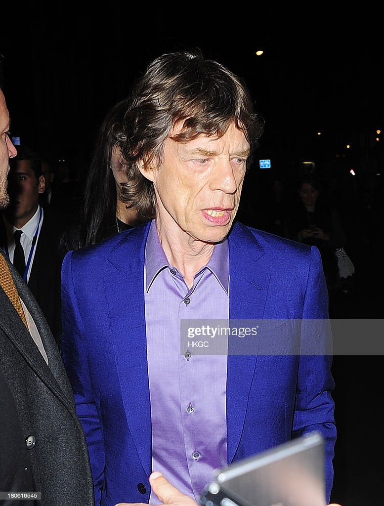 Mick Jagger attend The Longchamp flagship store launch party on September 14, 2013 in London, England.