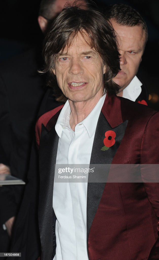 Mick Jagger attends the Harpers Bazaar Women of the Year awards at Claridge's Hotel on November 5, 2013 in London, England.