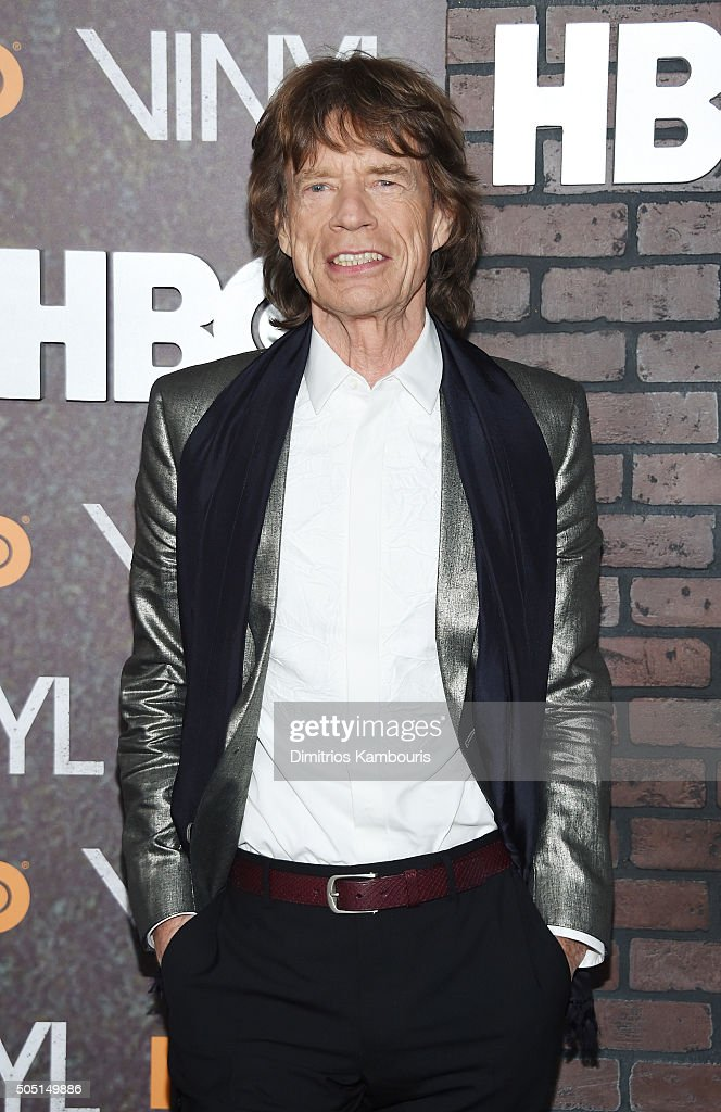 <a gi-track='captionPersonalityLinkClicked' href=/galleries/search?phrase=Mick+Jagger&family=editorial&specificpeople=201786 ng-click='$event.stopPropagation()'>Mick Jagger</a> attends the New York premiere of 'Vinyl' at Ziegfeld Theatre on January 15, 2016 in New York City.