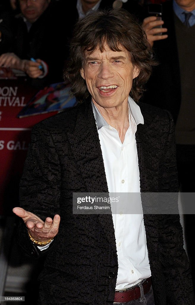 <a gi-track='captionPersonalityLinkClicked' href=/galleries/search?phrase=Mick+Jagger&family=editorial&specificpeople=201786 ng-click='$event.stopPropagation()'>Mick Jagger</a> attends the Premiere of 'Crossfire Hurricane' during the 56th BFI London Film Festival at Odeon Leicester Square on October 18, 2012 in London, England.