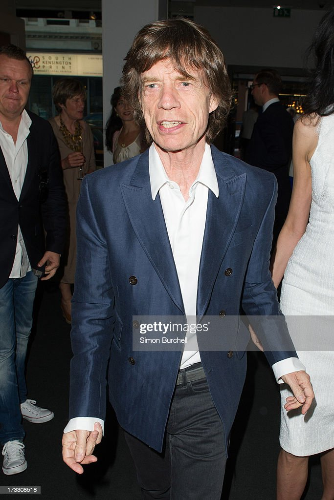 <a gi-track='captionPersonalityLinkClicked' href=/galleries/search?phrase=Mick+Jagger&family=editorial&specificpeople=201786 ng-click='$event.stopPropagation()'>Mick Jagger</a> attends the private view of The Suzy Menkes Collection: In My Fashion at Christie's on July 11, 2013 in London, England.