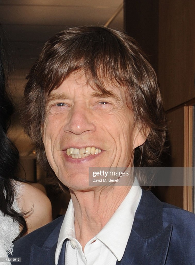 <a gi-track='captionPersonalityLinkClicked' href=/galleries/search?phrase=Mick+Jagger&family=editorial&specificpeople=201786 ng-click='$event.stopPropagation()'>Mick Jagger</a> attends the private view of 'The Suzy Menkes Collection: In My Fashion' at Christie's on July 11, 2013 in London, England.