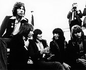 Mick Jagger Charlie Watts Keith Richards Bill Wyman and Mick Taylor of the Rolling Stones pose for a group portrait at a press call on 13th Spetember...