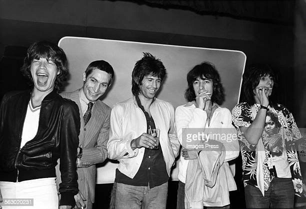 Mick Jagger Charlie Watts Keith Richards Bill Wyman and Ronnie Wood of The Rolling Stones circa 1979 in New York City