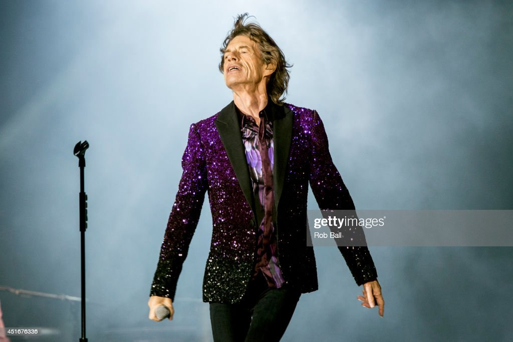 <a gi-track='captionPersonalityLinkClicked' href=/galleries/search?phrase=Mick+Jagger&family=editorial&specificpeople=201786 ng-click='$event.stopPropagation()'>Mick Jagger</a> from the Rolling Stones headlines the Roskilde Festival 2014 on July 3, 2014 in Roskilde, Denmark.