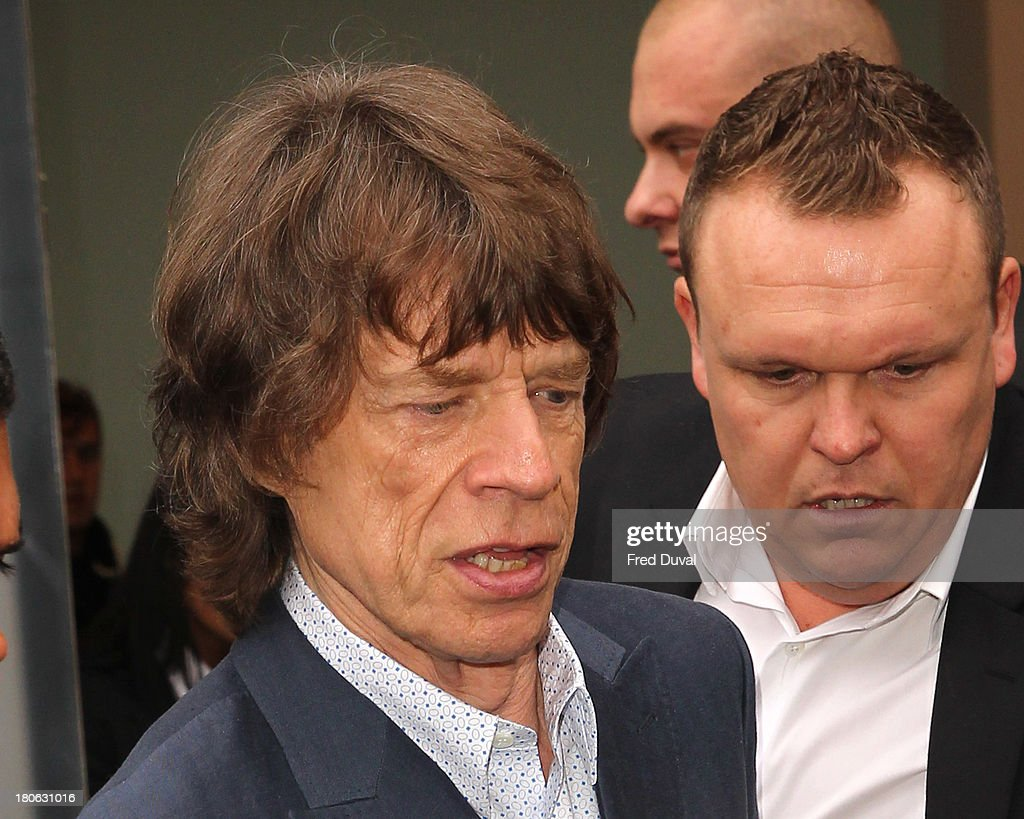 Mick Jagger is sighted during London Fashion Week on September 15, 2013 in London, England.