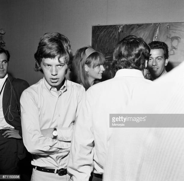 Mick Jagger lead singer of the Rolling Stones pop group attending the wedding of photographer David Bailey and French actress Catherine Deneuve 18th...