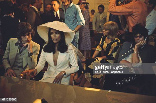 Mick Jagger lead singer with The Rolling Stones pictured together with Bianca PerezMora Macias at their civic wedding ceremony in Saint Tropez France...
