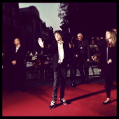 Mick Jagger of The Rolling Stones attends the Premiere of 'Crossfire Hurricane' during the 56th BFI London Film Festival at Odeon Leicester Square on...