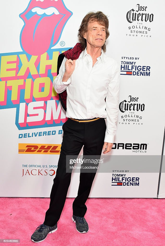 Mick Jagger of The Rolling Stones attends The Rolling Stones celebrate the North American debut of Exhibitionism at Industria in the West Village on November 15, 2016 in New York City.